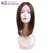 Beaudiva Human Hair Bob Wigs #4 Color Brazilian Virgin Hair Lace Front Human Hair Wigs Short Wigs For Black Women Free Shipping