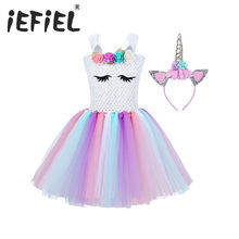 Children Girls Princess Cosplay Costumes Dress for Kids Halloween Costume Knee Length Dress Up Fancy Party Carnival Clothes(China)