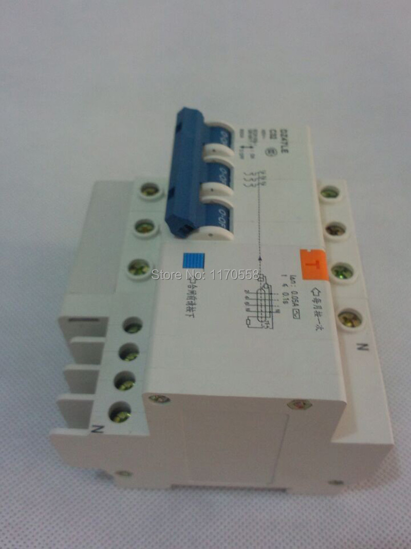 3p 32a Dz47le 400v Residual Current Circuit Breaker With Over 2p Transparent Diy Electricals At The Closing Lv Transformers Breakdown Lamps