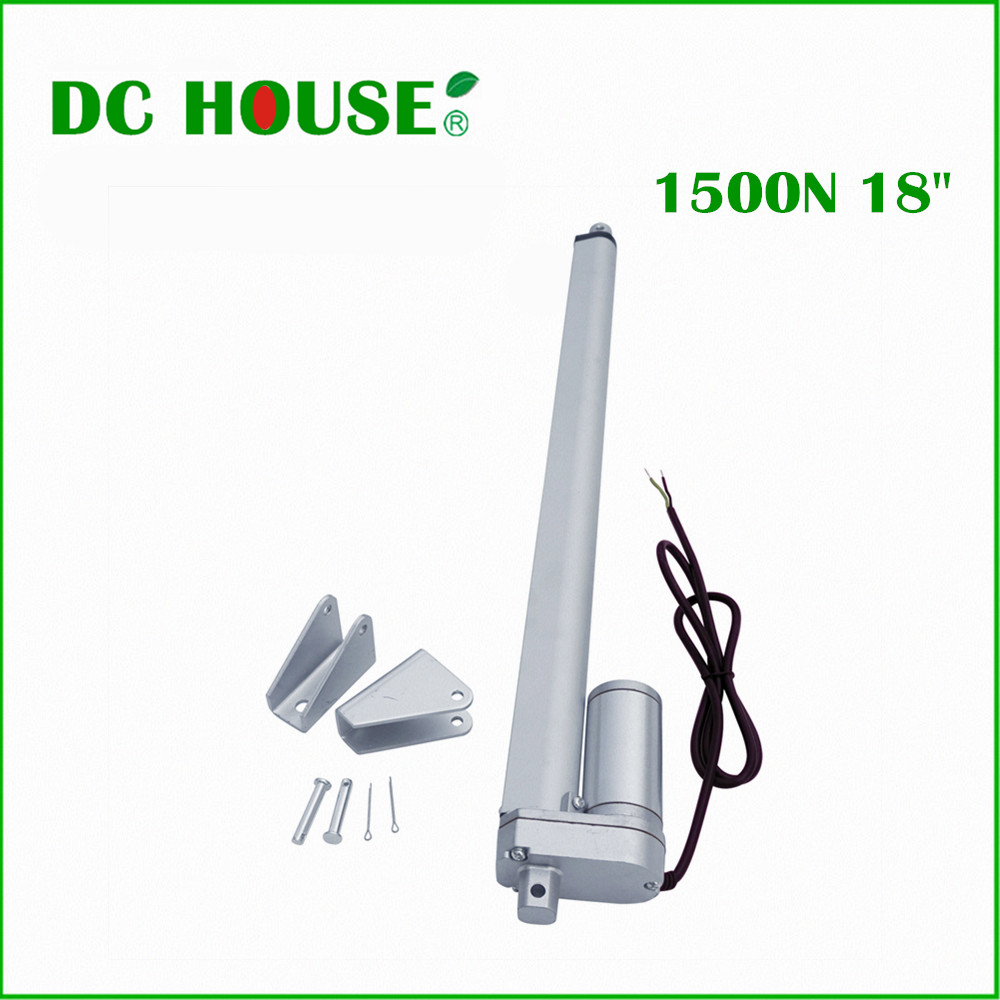 450mm Heavy Duty Water Resistant 18 Stroke 150N Linear Actuator 330 Pound Max Lift DC 12V