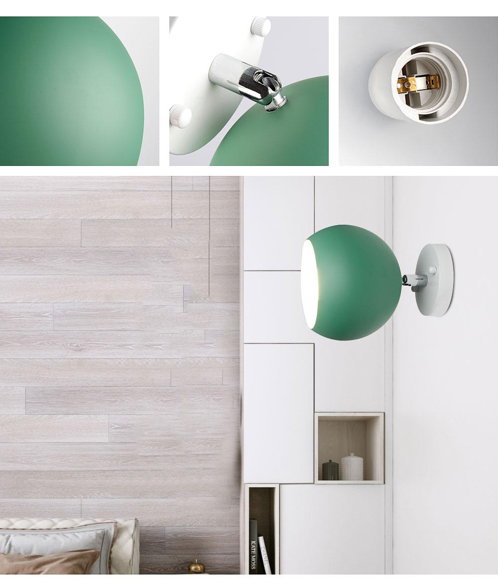 Postmodern Colorful Sphere Wall Lamp