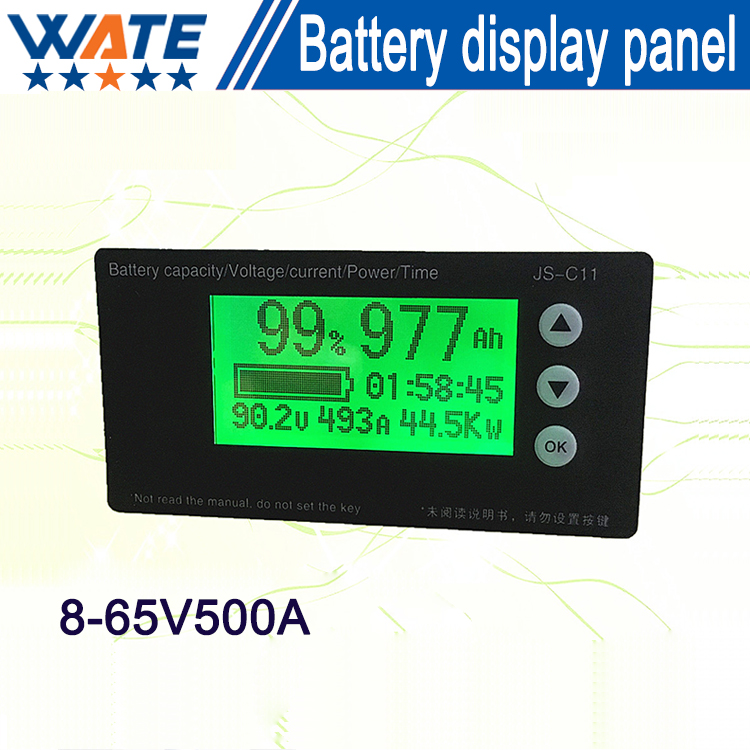 ФОТО battery capacity display board 8-65V500A  Lifepo4 battery capacity meter coulombmeter Free shipping