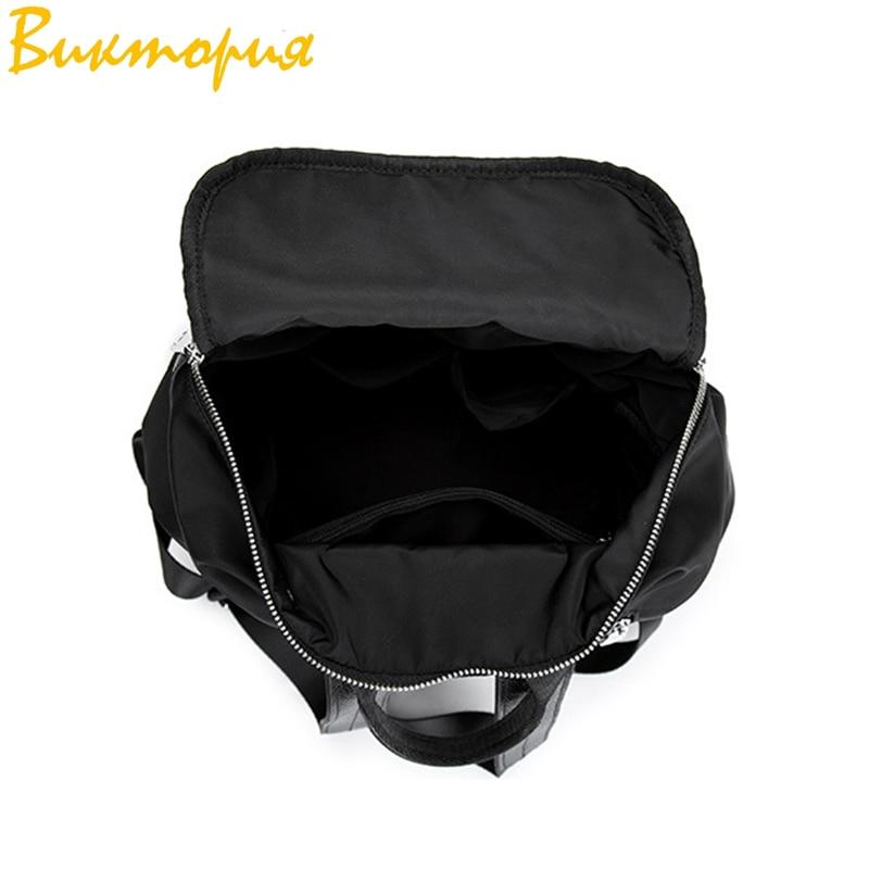 Sac à dos en tissu Oxford CHARA'S sac de voyage Anti-vol sac à dos femme Wangka USB sacs à dos blanc cassé 2019 nouveau - 5