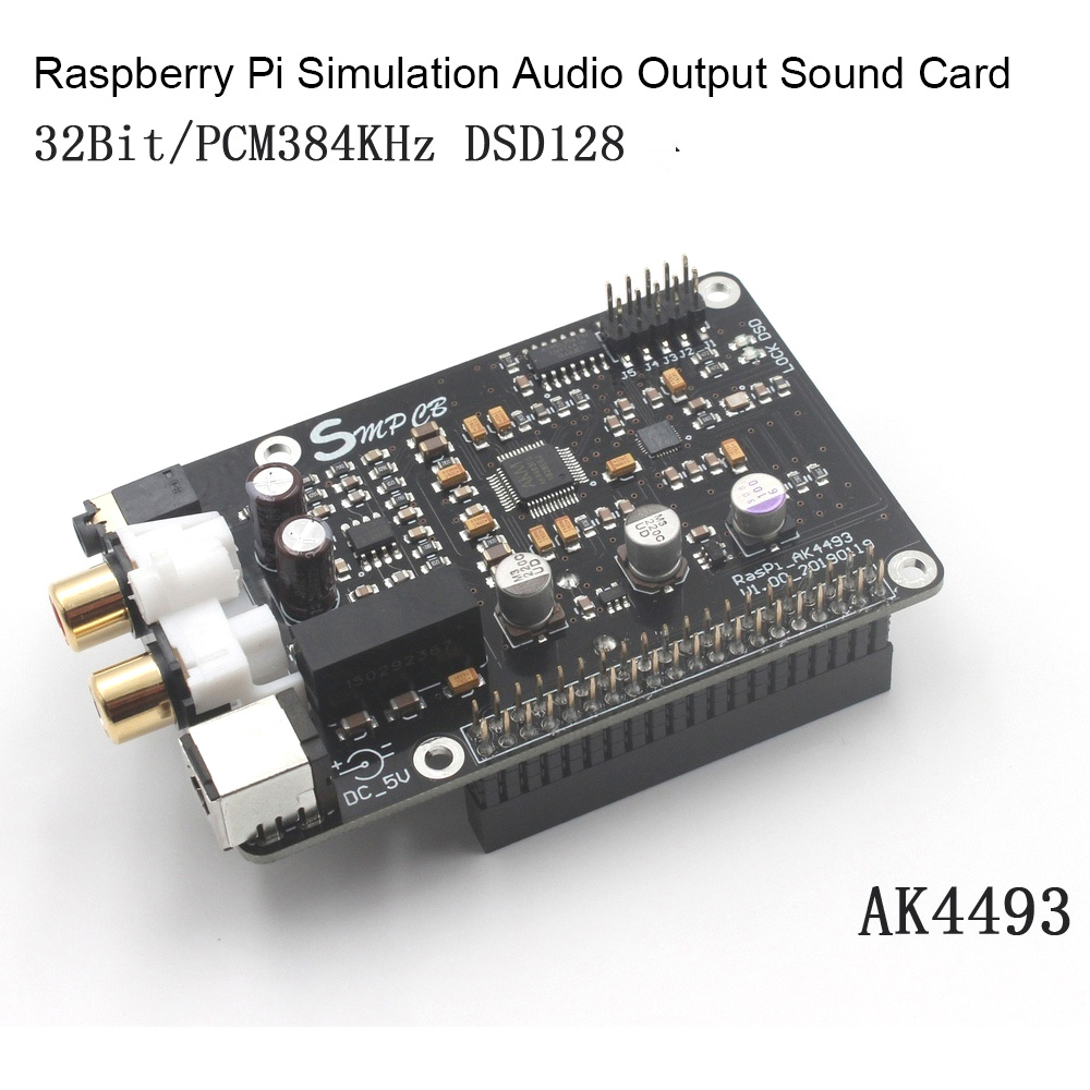 AK4493 DAC Decoder Board Digital Broadcast Network Player For Raspberry Pi  Decoding To I2S 32BIT 384KHZ DSD128