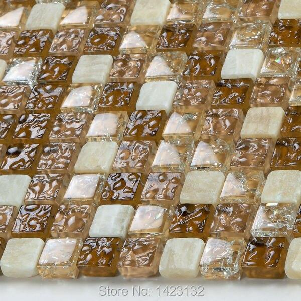 Crystal Glass Tile Backsplash Kitchen Champion Glass Stone Blend