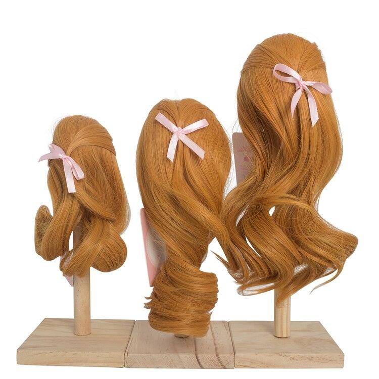 BJD doll wig 1//3 1//4 1//6 BJD DOLL MSD Fur Wig Dollfie Brown M03