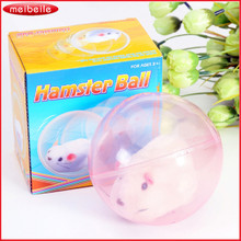 Hot selling novelty electric hamster ball transparent electric pet running hamster toy kids children animal toys Free shipping