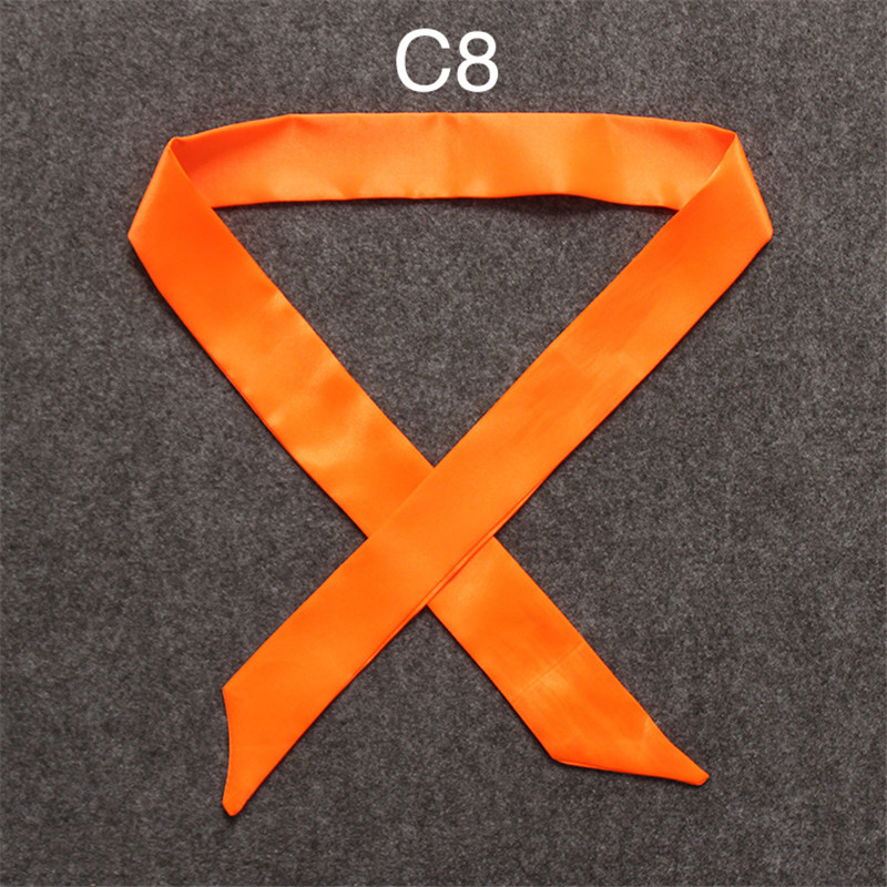 HTB1xq8cfqLN8KJjSZFmq6AQ6XXax - 100X5cm 2018 New Scarf Luxury Brand Small Solid Color Silk Scarf Women Head Scarf Headwear Handle Bag Ribbon Strap Scarves