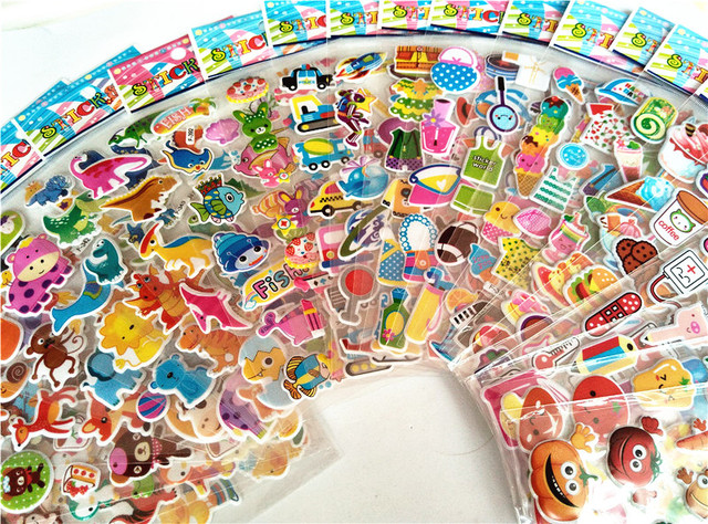 3D Mini Cartoon Stickers 50 sheets/lot
