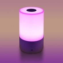 LemonBest RGB HA CONDOTTO LA Luce Sul Comodino di Notte Atmosfera Lampada Touch Sensor Lampada Da Tavolo Ricaricabile 3 livello di Luminosità Lampada Da Comodino