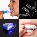 Dental Accelerator LED Tooth Whitening Light +1Pair Teeth Whitening Tray Bleaching Mouthguard Teeth Whiten Denture
