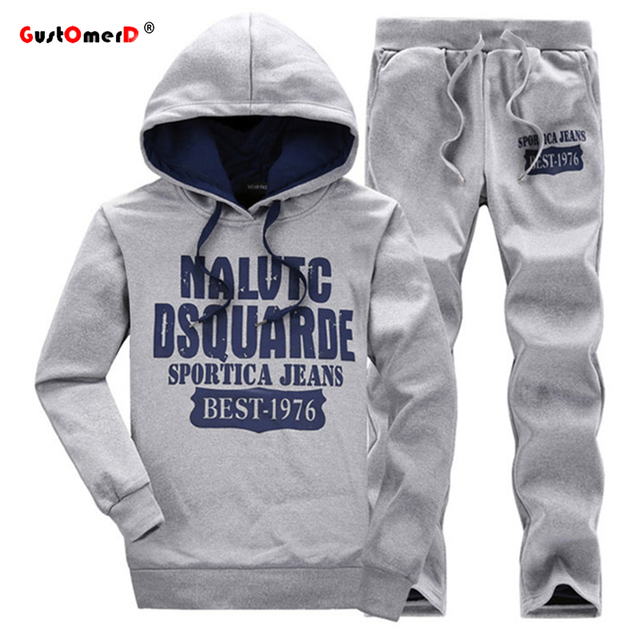 GustOmerD New Tracksuits Fashion Brand Men's Hoodies Men Sweatshirt	+Pants Suits Men Mens Sporting Suits Sportswear Mens Hoodies