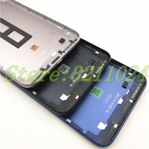 Image 5 - Original para asus zenfone max m2 zb633kl voltar bateria capa com chave lateral + lente de vidro da câmera traseira bateria porta habitação logotipo