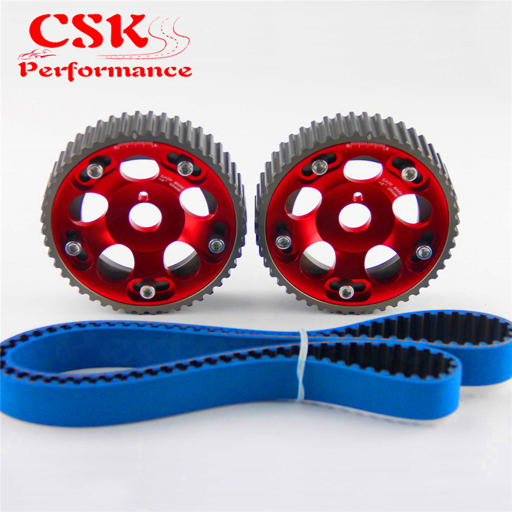 Racing Timing Belt + Cam Gear Pulley Kit Fits For 1993-2002 Toyota Supra Mask IV 2JZ-GTE 2JZ Red/Purple/Blue 1993 1998 toyota supra duraflex vader body kit 5 piece