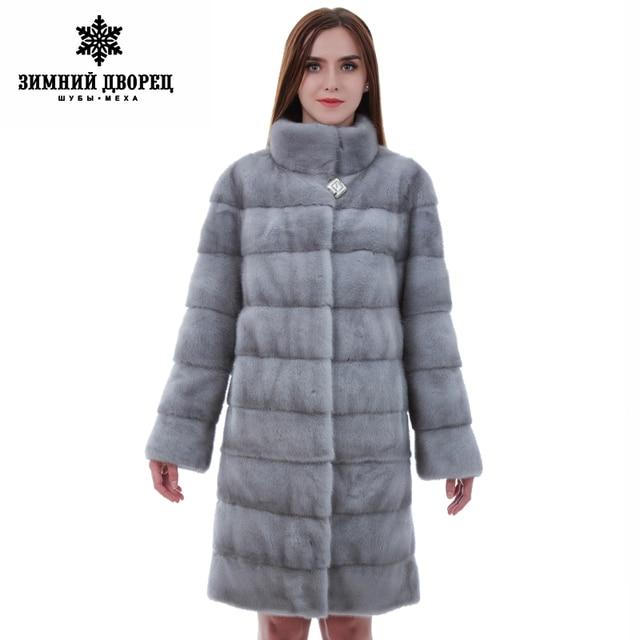 reputable site cb1d7 9cb99 US $2858.02 |Pellicce naturali cappotto di pelliccia delle donne di Modo  Sottile Furmink cappotto zaffiro visone cappotto di pelliccia cappotti di  ...