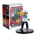 14 CM Figura de Acción de Juguete Pikachu Pokeball Pocket Monsters Ash Ketchum Asociados Figura de Juguete Con la Caja