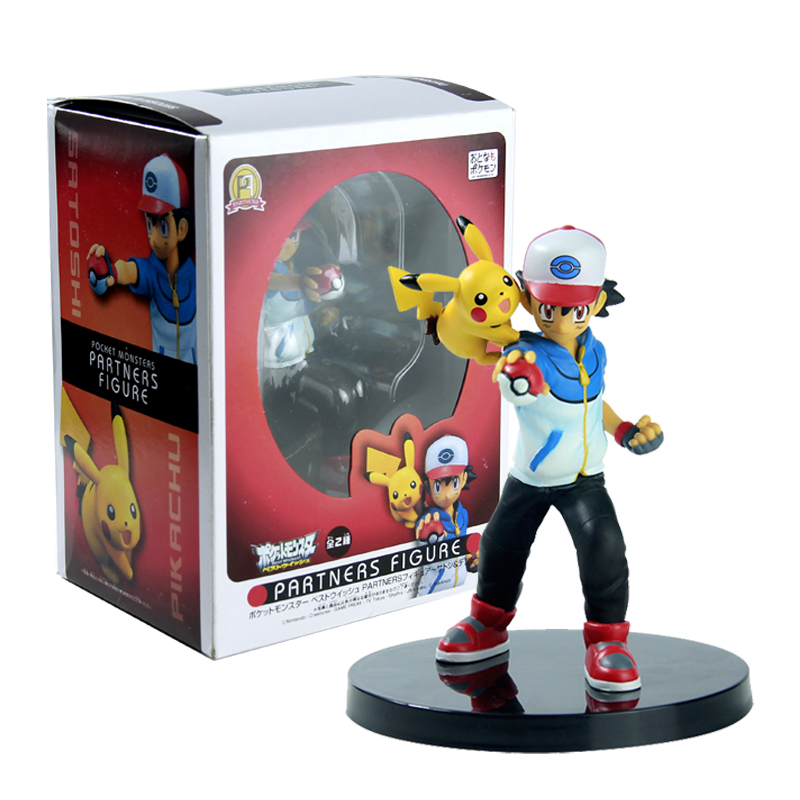 SYTOPIA 14CM Ash Ketchum Pikachu Pokeball Action Figure Toy Pocket Monsters Partners Figure Toy With Box partners cd