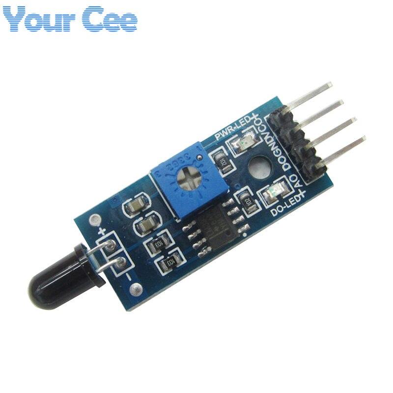 2 unids Módulo de Sensor de Llama módulo Receptor de Infrarrojos Módulo de Detec