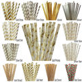 25pcs/lot Foil Gold/Silver Paper Straws For Birthday Party Decorations Kids & Wedding Decoration Party Supplies Creative Straws