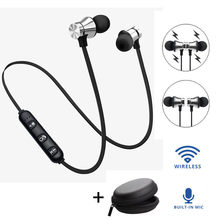 Bluetooth 4.2 Stereo Earphone Headset Wireless Magnetic In-Ear Earbuds Headphone wireless headset earphone bluetooth airdots #0(China)