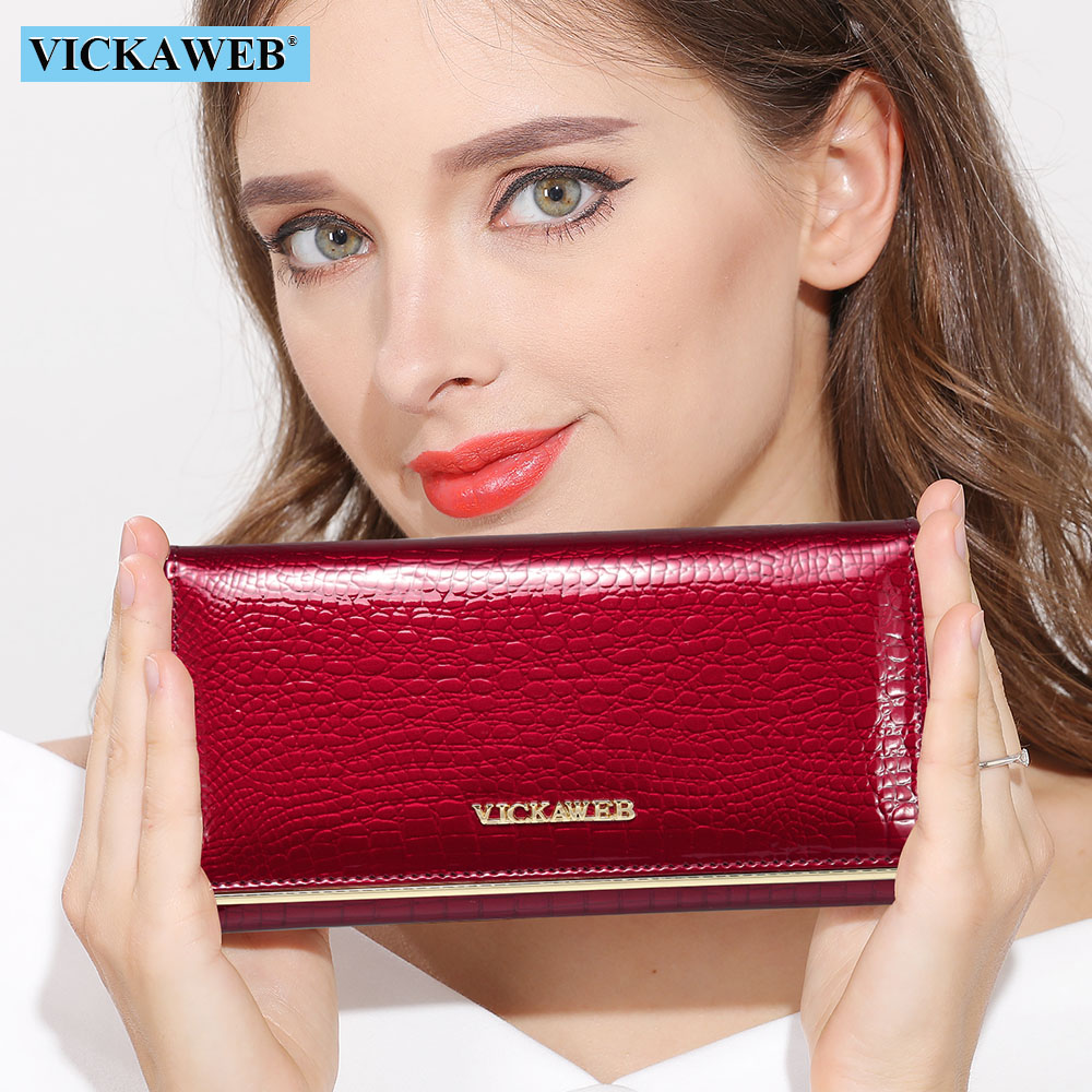 Carteras de mujer diseño de marca Cartera de cuero de alta calidad para mujer