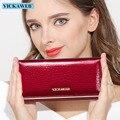 Carteras para mujer, carteras de cuero de alta calidad de diseño de marca, carteras y monederos largos de cocodrilo a precio de dólar de moda para mujer