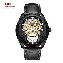 Mannen Horloge Tevise Zakelijke Automatische Mechanische Horloges Schedel 3D Sculptuur Horloges Waterdicht Gift Mannelijke Klok Horloges t853