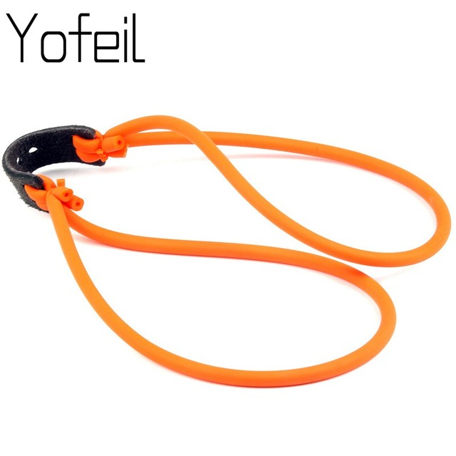 1PC  Hunting Shooting Slingshot Natural Latex Rubber Tube Band Sling shot Parts Catapult Elastic  Bungee Equipment 8 word buckle 1