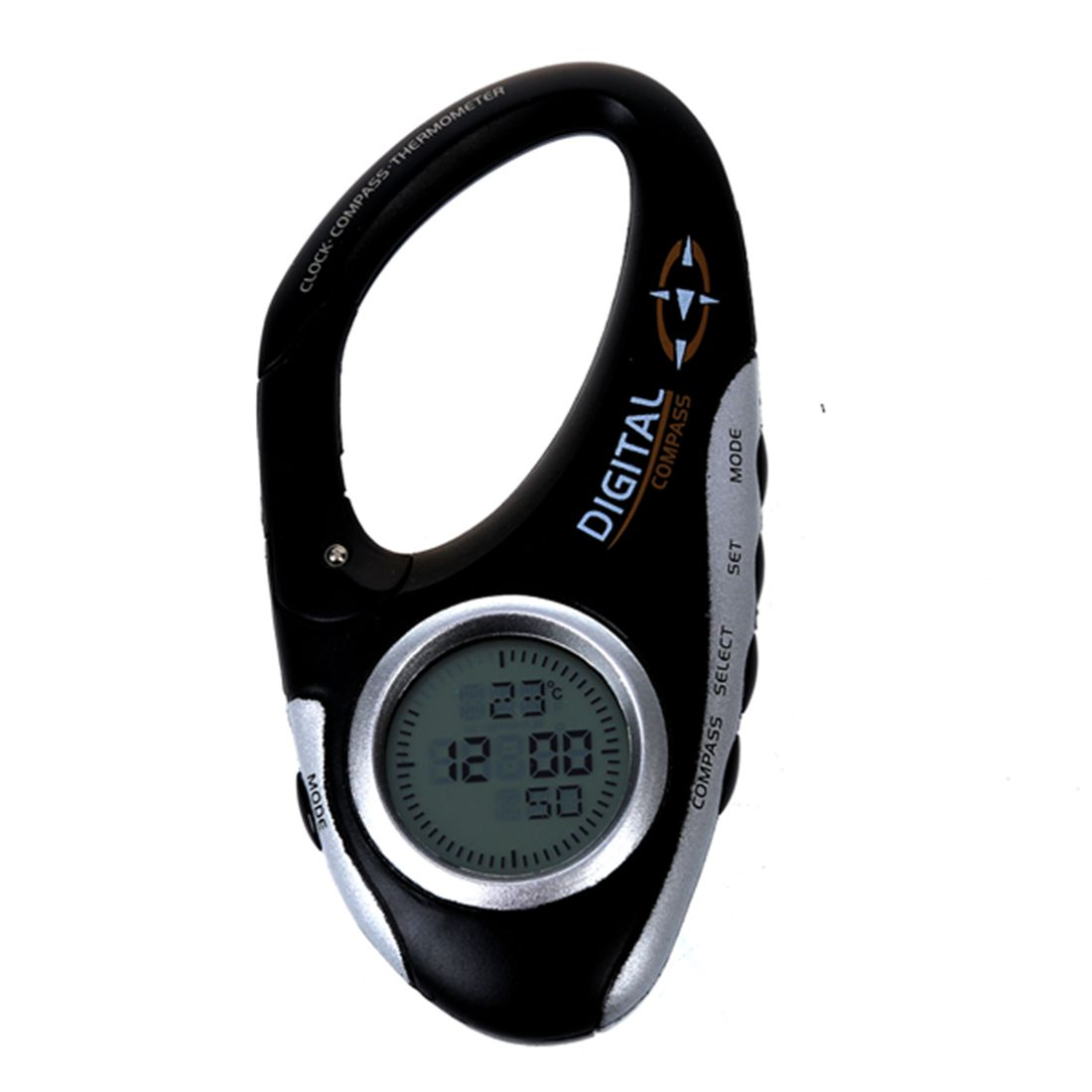 Wholesale 5pcs of Carabiner formula digital Compass thermometer skirt olimara skirt