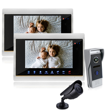Homefong Color 7 TFT LCD Display 4 line Video Door Phone Doorbell Intercom System With Secuity