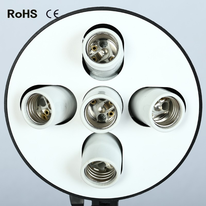 5 in 1 Standard E27 Base Light Lamp Bulb Adapter Holder Socket