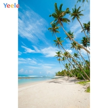 Yeele Seaside Tour Beach Coconut Palm Tree Tropical Photography Backgrounds Personalized Photographic Backdrops For Photo Studio