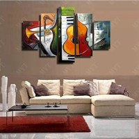 100% Handpainted 5 PCS Lanscape Wall Art Canvas Poster and Print Canvas Painting Decorative Picture for Living Room Home Decor
