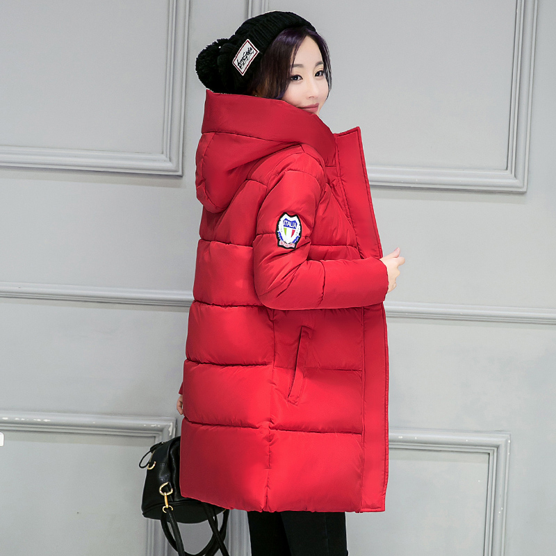new White Winter Coat Women 2019 Hot Sale Long   Parka   Fashion Students Slim Female Clothing Plus Size S-2XL Thick Jackets