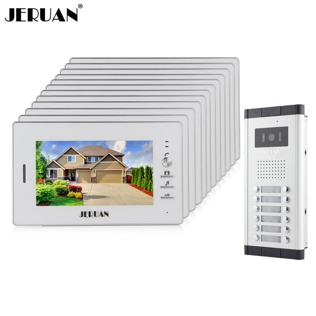 Jeruan Wholesale Apartment 7 Video Intercom Door Phone Entry System