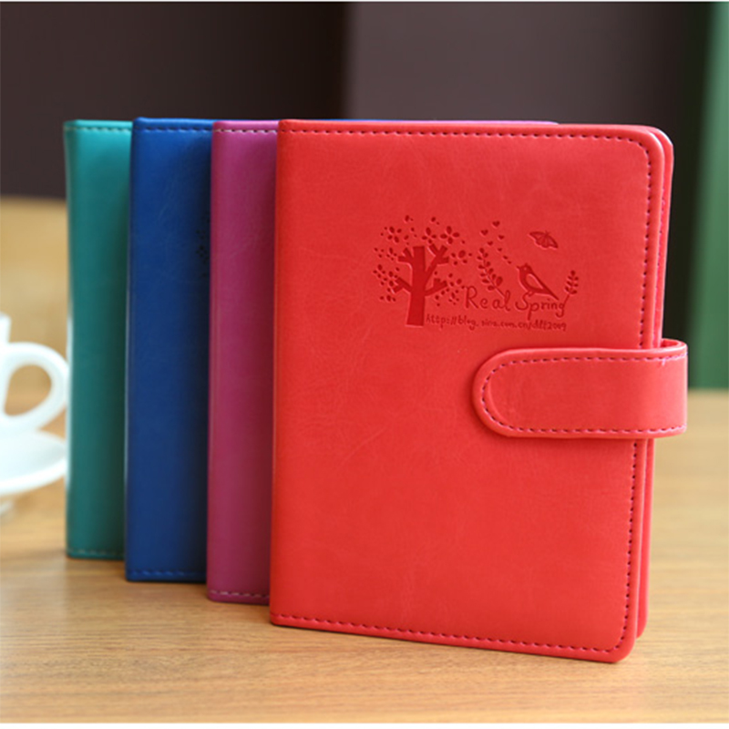 New School Notebook 128 Sheets Leather Diary Creative Trends Portable Note Book Notepad color pages Office school supplies Gift 1 pcs wedding straps the retro notepad current notebook replaceable page school office family diary gift book this book 5 color