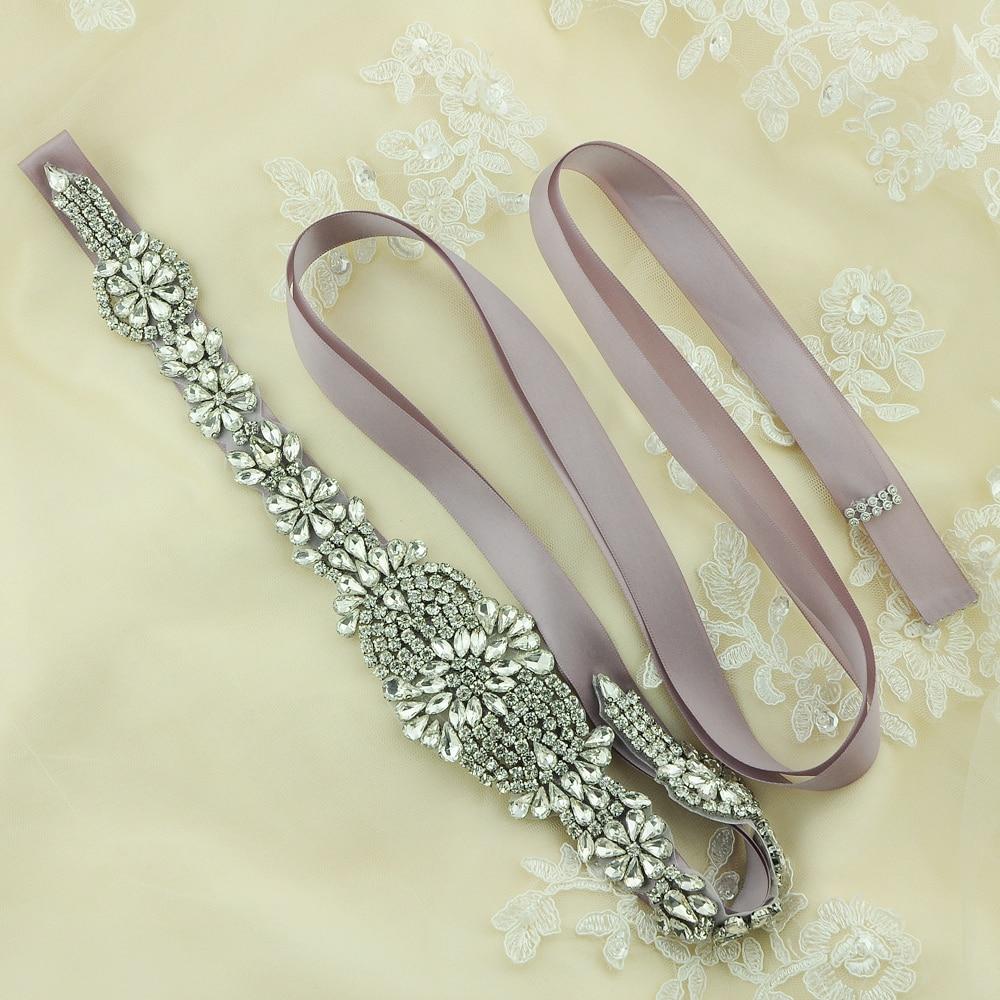 Cinture di Raso Cerimonia Nuziale di cristallo Strass Wedding Dress Belt Wedding Accessories Bridal Ribbon Sash Cintura