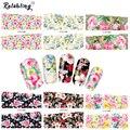 Rolabling Mix cubierta completa uñas flor etiqueta engomada del clavo de transferencia de agua de uñas de arte etiqueta de dedo de uñas