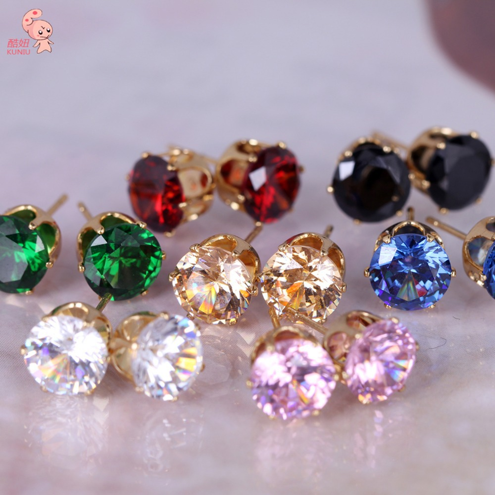 New Fashion Stud Earring For Women Round Favorite Design Studded Candy Crystals Cz Jewelry In Earrings From Accessories On