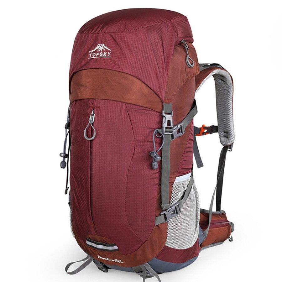 Mochila 40L 50L marco interno ultraligero impermeable al aire libre montañismo senderismo viaje escalada Camping con cubierta de lluvia