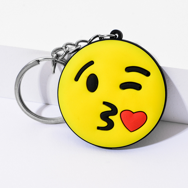 Vicney New Arrival Emoji Keychain Cool laughing Show love Emoji Key Chain Support Wholesale Cute Key Holder For Best Friends 4