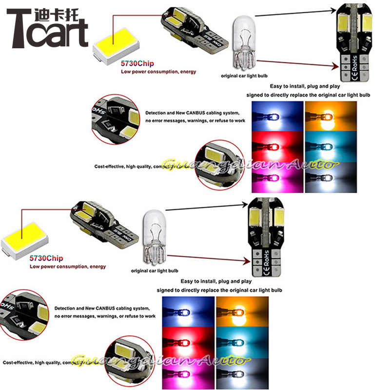 US $11 74 13% OFF|Tcart 6pcs X free shipping Error Free LED Interior Light  Kit Package for nissan qashqai accessories 2004 2013-in Signal Lamp from