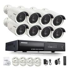 Hotting ANNKE Полный 8CH 1080 P POE Комплект POE NVR 8 ШТ. 2.0mp 3000TVL PoE Ip-камера P2P Облачный Сервис ВИДЕОНАБЛЮДЕНИЯ Системы Видеонаблюдения