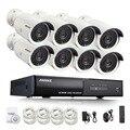 Hotting annke completo kit 8ch 1080 p poe poe nvr 8 unids 2.0mp 3000TVL PoE Cámara IP Sistema de Vigilancia de Vídeo CCTV P2P Cloud Service