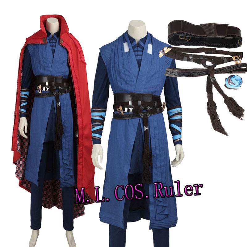 New Original Doctor Strange Stephen Cosplay Costume Full Set Custom Made High Quality Outfit Any Size Free Shipping