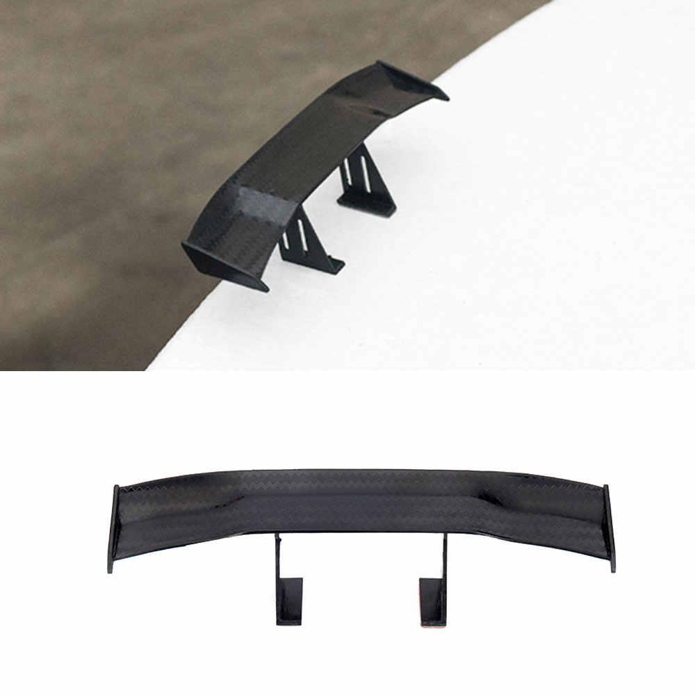 Olhar de carbono Spoiler Traseiro Do Carro Mini Asa Pequeno Modelo GT Estilo Decoração Auto Acessórios Do Carro styling Preto Azul Vermelho Branco cinza