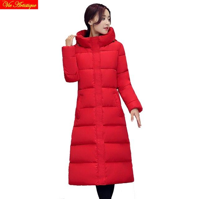 winter jacket women icebear miegofce parka women long coats and jackets doudoune femme red black grey high quality
