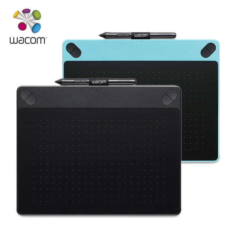 Wacom Intuos Art CTH 690 Pen Touch Digital Graphic Drawing Tablet 2048 Pressure Levels Black Blue