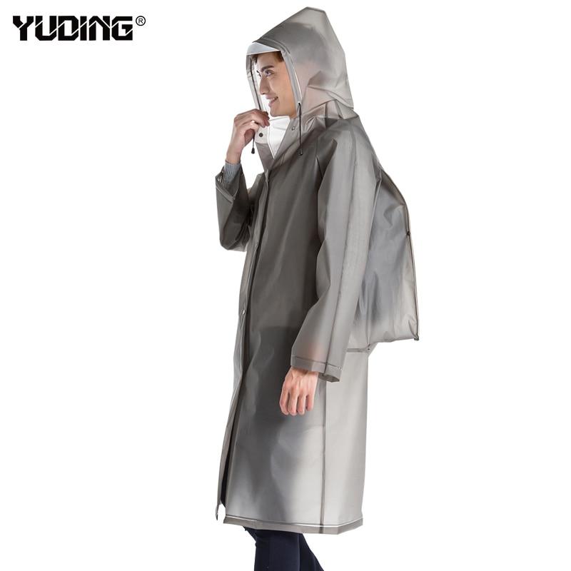 Yuding Raincoat Hooded Plastic Thick Hiking Waterproof Women Schoolbag Universal Man