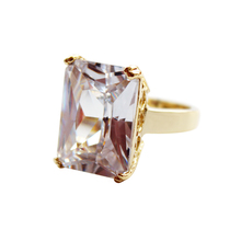 2019 Square Transparent Cubic Zirconia Party Geometrical Classic Women Jewelry Simple Fashion Popular Glittering Ring 3078